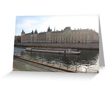 A Boat On The River Seine Greeting Card
