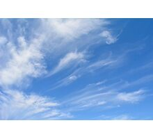 Beautiful blue sky with white clouds. Photographic Print