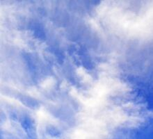 Beautiful blue sky with white clouds. Sticker