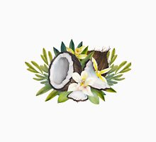 Watercolor vanillla flowers and coconut Unisex T-Shirt