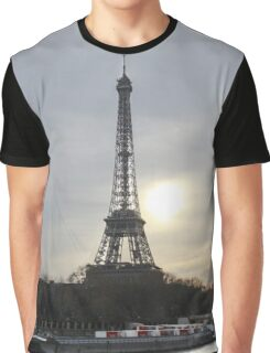 Eiffel Tower With A Sunset Landscape Graphic T-Shirt