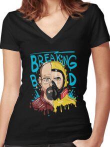 Break Bald Bad Women's Fitted V-Neck T-Shirt