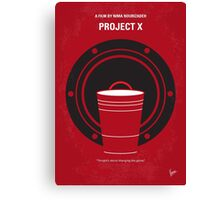 No393 My PROJECT X minimal movie poster Canvas Print