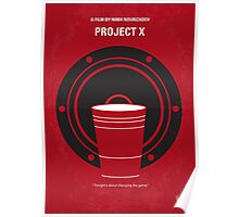 No393 My PROJECT X minimal movie poster Poster