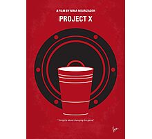 No393 My PROJECT X minimal movie poster Photographic Print