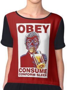 Obey Consume Chiffon Top