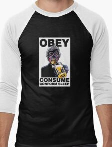 Obey Consume Men's Baseball ¾ T-Shirt