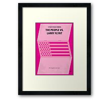 No395 My The People vs. Larry Flynt minimal movie poster Framed Print