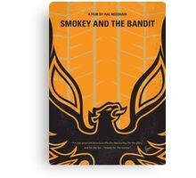 No398 My smokey and the bandits minimal movie poster Canvas Print
