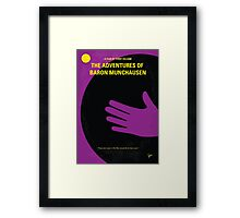 No399 My Baron von munchhausen minimal movie poster Framed Print