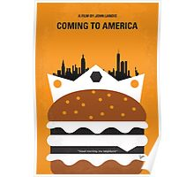 No402 My Coming to America minimal movie poster Poster