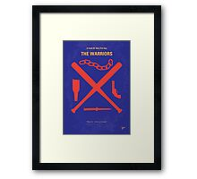 No403 My The Warriors minimal movie poster Framed Print