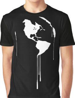 Splatter Earth 1 (white) Graphic T-Shirt