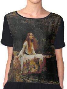 John William Waterhouse - The Lady of Shalott 1888 . Woman Portrait  Chiffon Top