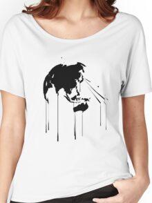 Splatter Earth 2 (black) Women's Relaxed Fit T-Shirt