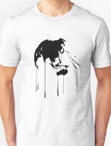 Splatter Earth 2 (black) T-Shirt