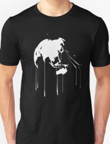 Splatter Earth 2 (white) T-Shirt