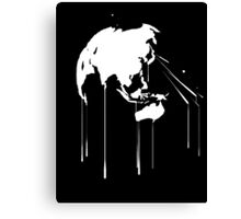 Splatter Earth 2 (white) Canvas Print