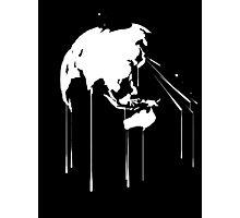 Splatter Earth 2 (white) Photographic Print