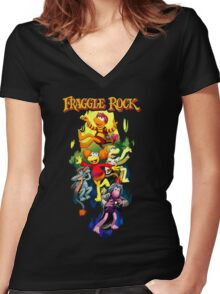 Fraggle Rock Women's Fitted V-Neck T-Shirt