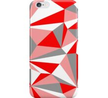 Squared red world iPhone Case/Skin
