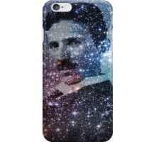 Nikola Tesla Star Mind Very Large Poster iPhone Case/Skin