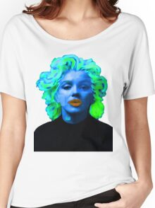 Paradox of Marylin Monroe (blue) Women's Relaxed Fit T-Shirt