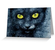 ORION LE CHAT BLEU Greeting Card