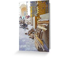 L'Aquila: collapsed church Greeting Card
