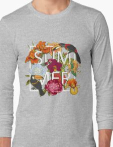 Floral and birds toucans Long Sleeve T-Shirt