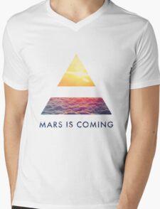 Mars Mens V-Neck T-Shirt