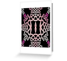 Celtic Knotwork in Black & Pink? Greeting Card