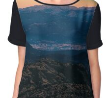 Moonrise in mountains Chiffon Top