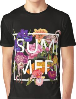 Floral and birds flamingos summer  Graphic T-Shirt