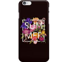 Floral and birds flamingos summer  iPhone Case/Skin