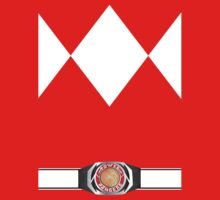 MMPR Red Ranger Uniform Kids Tee