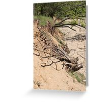 Our Life Often Ends With Erosion Greeting Card