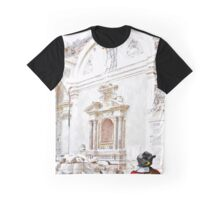 L'Aquila: collapsed church with digger wheelbarrow and rubble Graphic T-Shirt