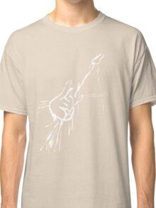 Splatter Guitar (white) Classic T-Shirt