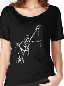 Splatter Guitar (white) Women's Relaxed Fit T-Shirt