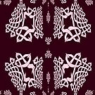 A Beautiful Fractal Knotwork Design on Purple by Dennis Melling