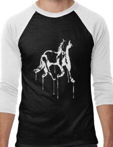 Splatter Horse (white) Men's Baseball ¾ T-Shirt