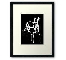 Splatter Horse (white) Framed Print