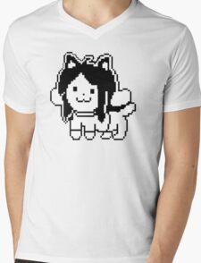 Undertale Temmie Mens V-Neck T-Shirt