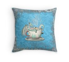 Tea Cup Dragons: Peppermint 2 Throw Pillow