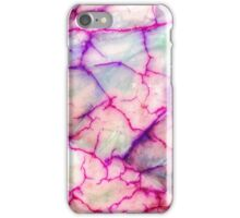 White Red Dragon Vein Agate Pattern iPhone Case/Skin
