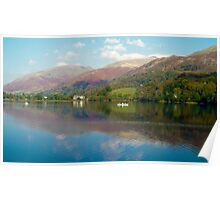 Rowing on Grasmere in the Lake District, UK Poster