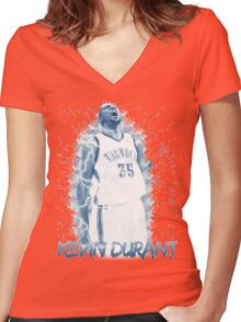 Kevin Durant Design Women's Fitted V-Neck T-Shirt