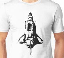Splatter Space Shuttle (black) Unisex T-Shirt