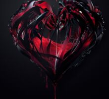 heart blood black and red art Sticker